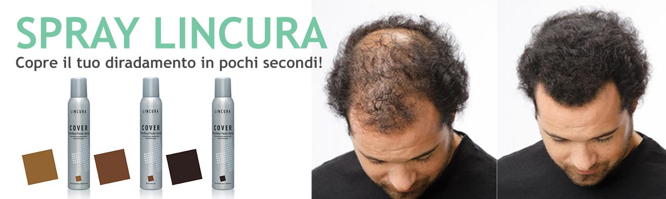 spesso LINCURA COVER SPRAY prodotto per infoltimento dei capelli  PP75