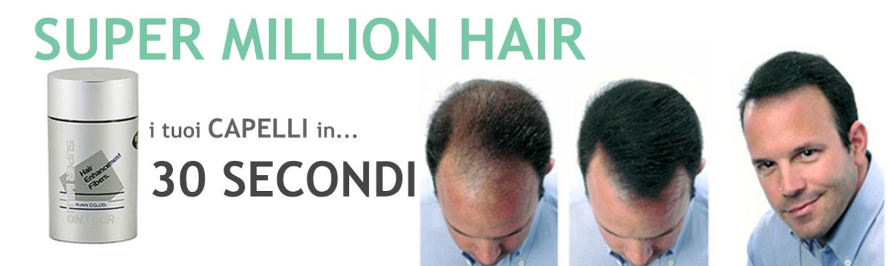 SUPER MILLION HAIR, soluzione e rimedi capelli radi ...